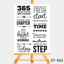 AZSG 365 days, every day is a good Clear Stamps For DIY Scrapbooking Rubber Stamp/ Seal Paper Craft Stamp Card Making
