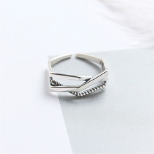 Fengxiaoling 100% 925 Sterling Silver Personality Irregular Open Rings For Women High Quality Polygon Silver Ring Fine Jewelry