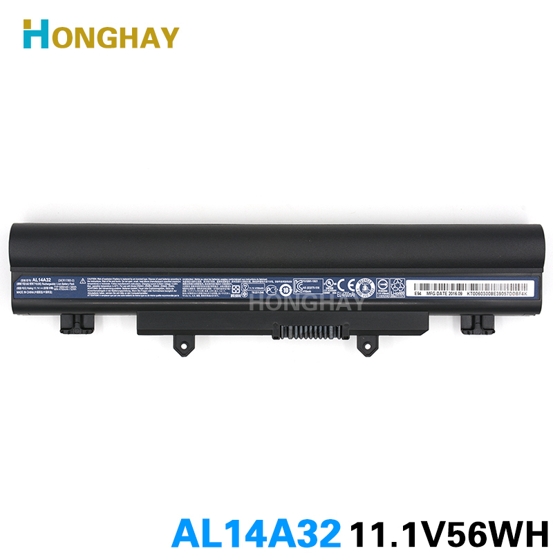 Honghay AL14A32 Laptop Battery for Acer Aspire E14 E15 E5-421 E5-572G E5-471G E5-571 E5-572 E5-471 E5-521 E5-531 E5-551 V3-472 al15a32 laptop battery for acer aspire e5 473g e5 573g e5 553g kt 00403 025 4icr17 65