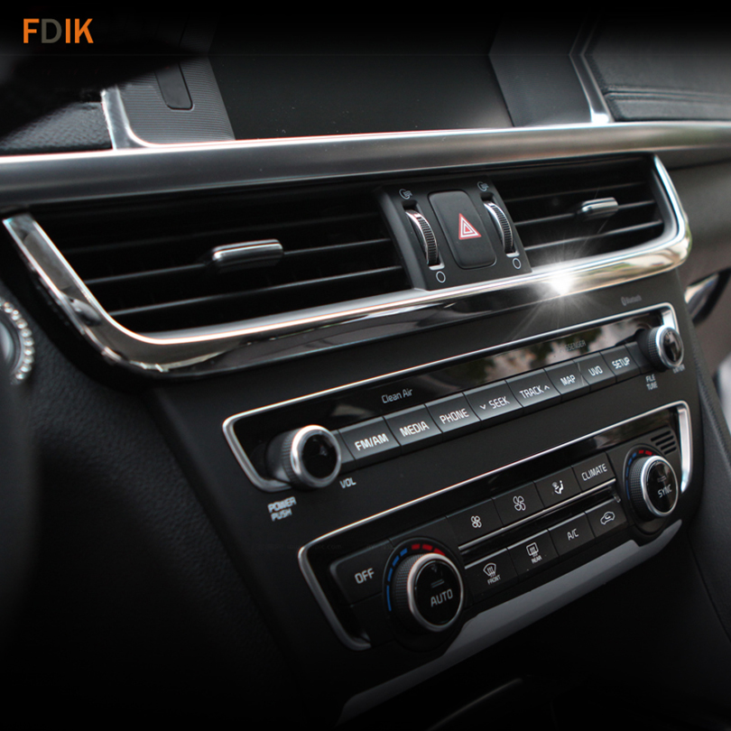 2016 Kia Optima Interior: Chrome Interior Instrument Air Condition Vent Frame Trim