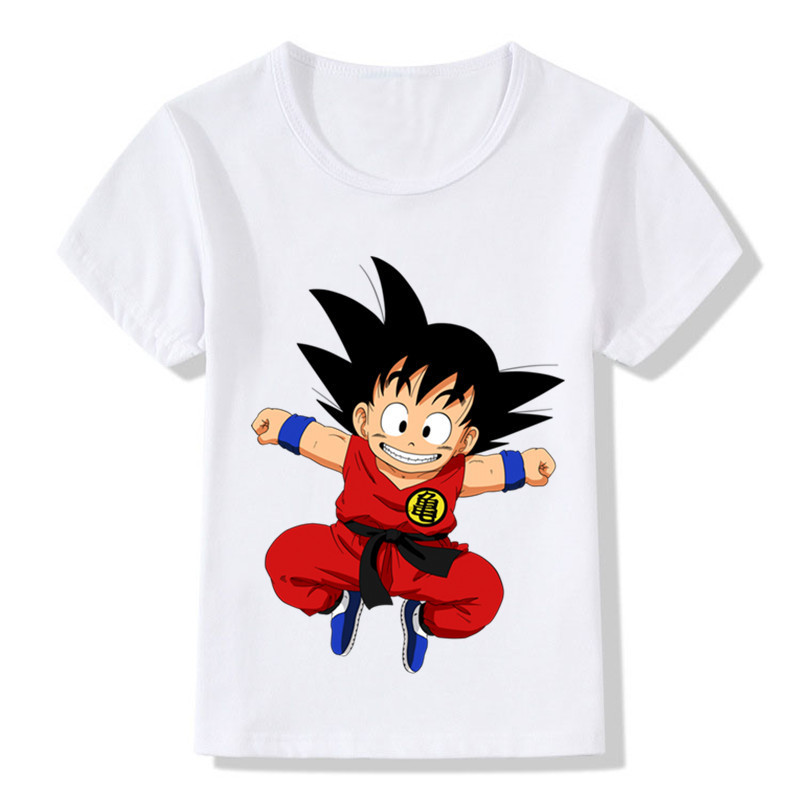 Children Cartoon Cute Toddler Goku Design Funny T-Shirt Kids Baby Anime Dragon Ball Z Clothes Boys Girls Summer Tops Tee,ooo5072