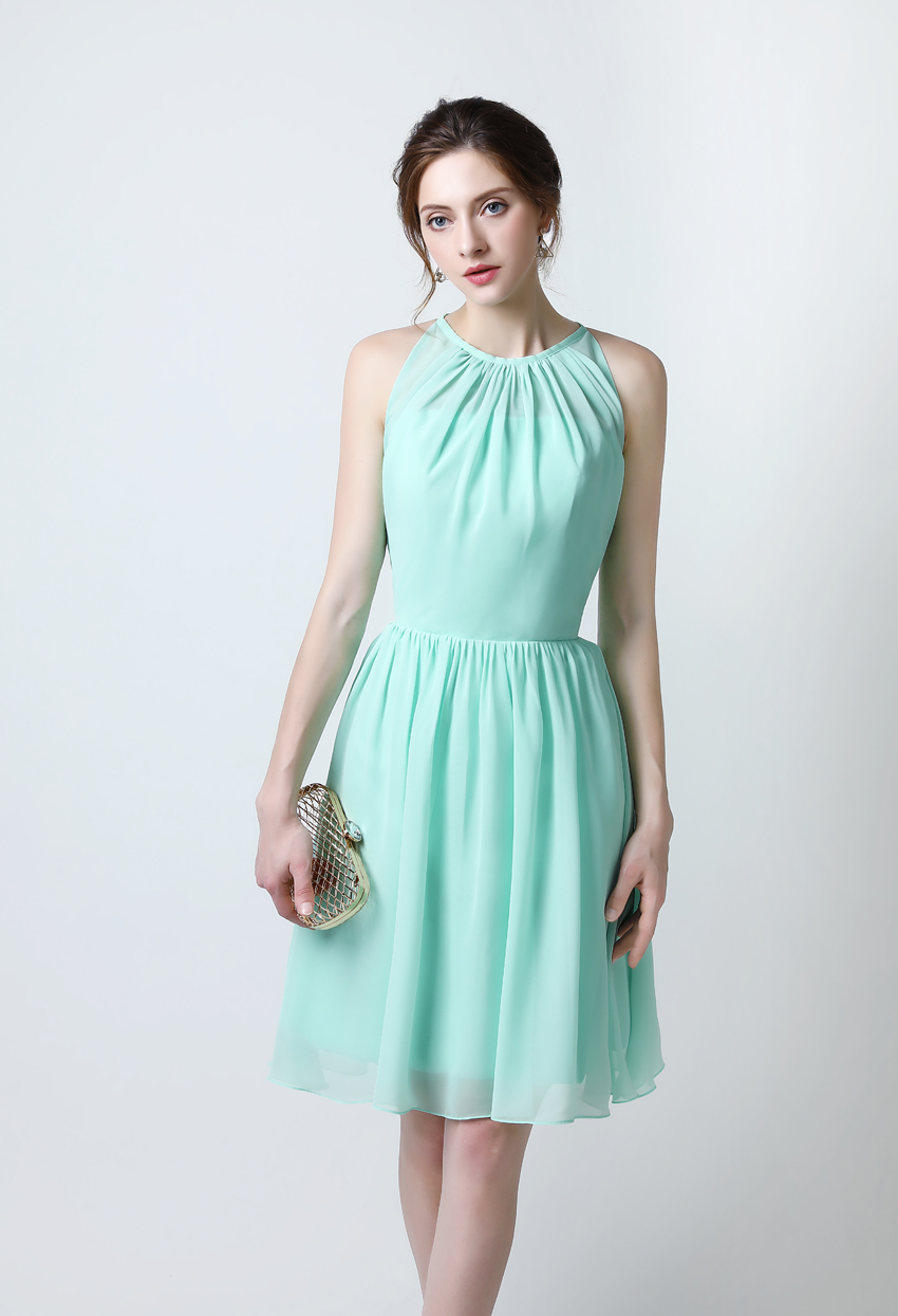 Real sample Abiye Elegant Cap Sleeve Mint Green Short Cheap ...