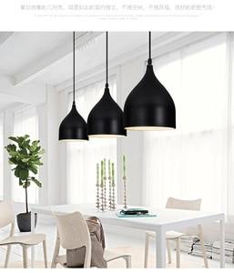 Image 4 - LukLoy Modern Pendant Ceiling Lamps Dining Table Lustre Pendant Lights Loft Lamp Hanglamp Nordic Hanging Kitchen Light Fixture