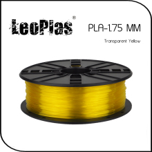Worldwide Fast Delivery Direct Manufacturer 3D Printer Material 1kg 2.2lb 1.75mm Transparent Yellow PLA Filament