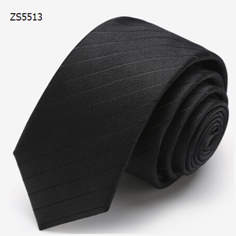 Mens Ties Jacquard Gravatas Solid Black Fashion Striped Neck Tie Business Ties For Men New Onesize Slim Fit Neck Tie DaZS5513