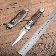 Folding knife 8CR13MOV blade wood handle outdoor camping Pocket hunting knife survival tactical Utility fruit knives EDC tools voltron damascus blade tactical folding knife wood handle outdoor utility camping survival knife hunting hand tool knives