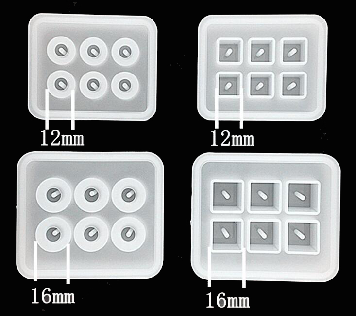 Jewelry Tools 12mm 16mm Cube Round Ball Beads With 6 Hanging Holes Epoxy Resin Silicone Mould Handmade Craft Silicone Mold