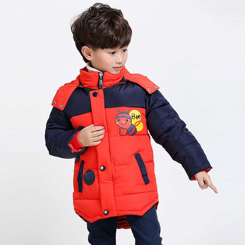 59eb0ab8f 2018 Baby Boys Jacket Winter Jackets For Boys Bees Hooded Down ...