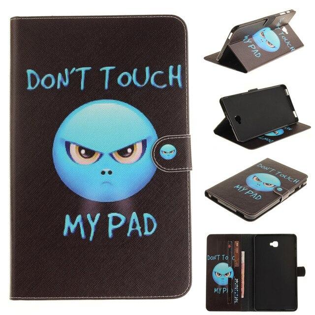 Fashion wallet PU Leather Case For Samsung Galaxy Tab A A6 10.1 2016 T580 T585 SM-T580 T580N
