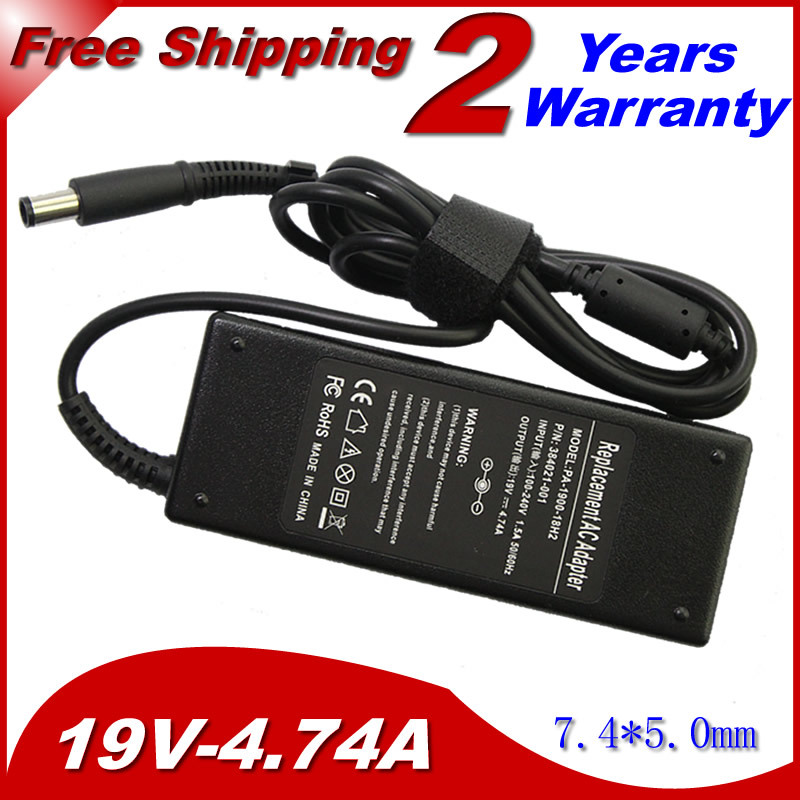 Replacement For HP 19V 4.74A 7.4*5.0MM 90W 463955-001 609940-001 PPP012H-S Pavilion dv4 dv5 g4 g6 g7 AC Charger Power Adapter yunda replacement 90w 4 74a 7 4 x 5 0mm power adapter for hp laptop black ac 100 240v