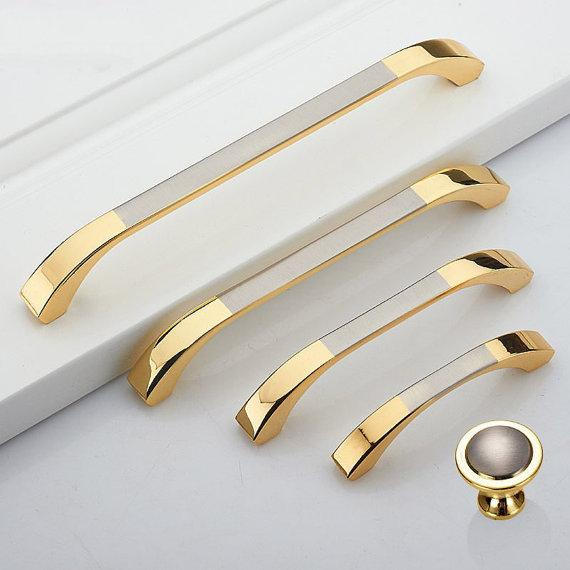 25 375 5 63 Dresser Drawer Pulls Handles Knobs Gold