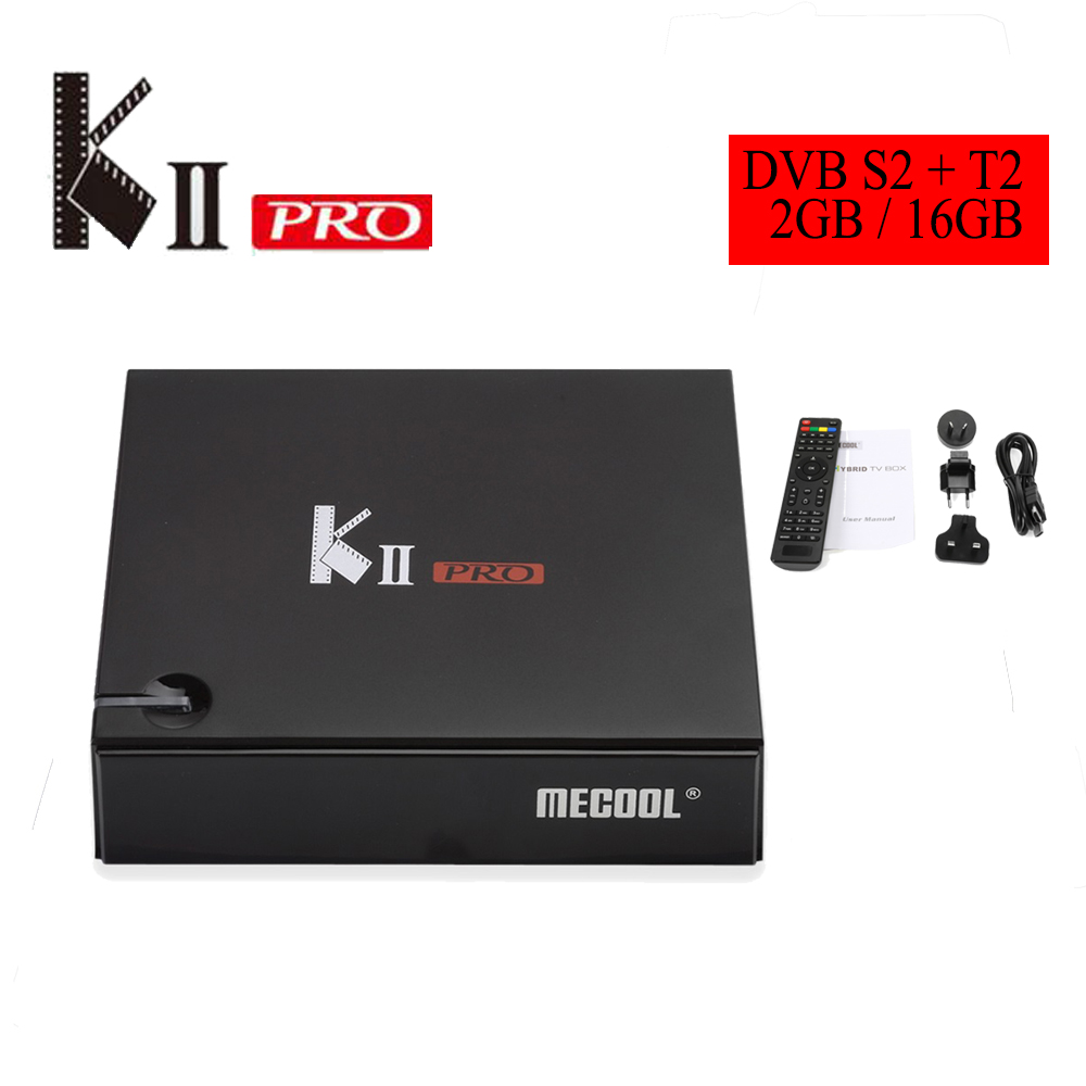 MECOOL KII PRO TV Box Android 7.1 Quad Core Amlogic S905D T2 + S2 2.4G + 5.0G WiFi Bluetooth 4.0 H.265 64Bit Multi-media Player