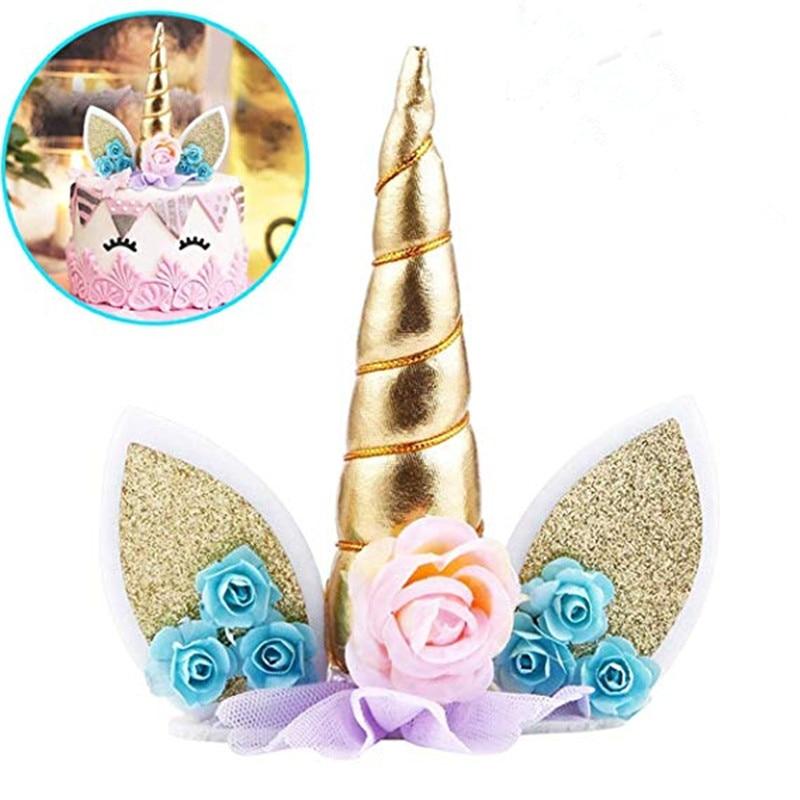 Online Shop Vvsoo 1pc Unicorn Horns Cake Topper Decor Halloween Birthday Party Event Supplies Kids Birthday Cake Decoration   Aliexpress Mobile