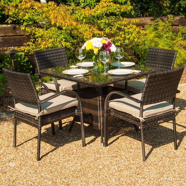 Hot Sale New Style Weatherproof French Bistro Resin Wicker Coffee Table  Set(China (Mainland