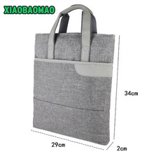 Commercial Business Document Bag A4 Tote file folder Filing Meeting Bags Strong handle Zipper Pocket office