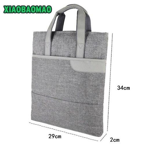 Sac de Document d'affaires Commercial A4 fourre-tout dossier dossier classeur sacs de réunion poignée forte poche à glissière sacs de bureau portable toile