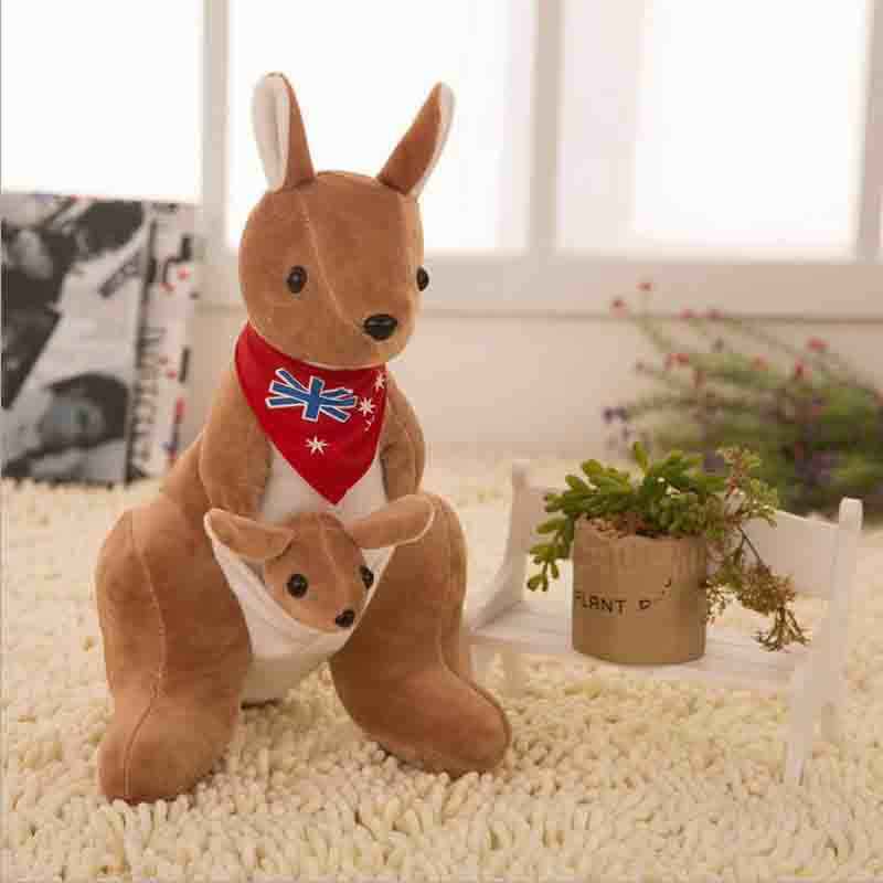 kangaroo creative figures font b plush b font toy doll large gray mother bear children gife