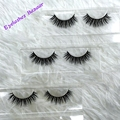 Free shipping crossing 3pcs/lot crossing real siberian mink  lashes