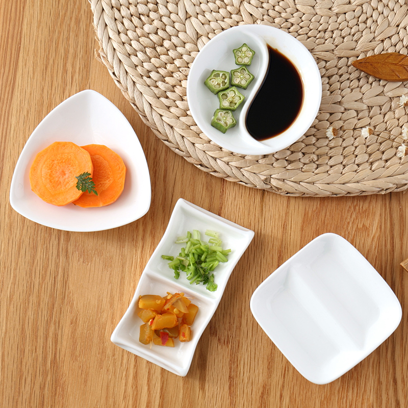 Vinegar Dish Rags: 4pcs Sets Creative Ceramic Seasoning Dish Kitchen