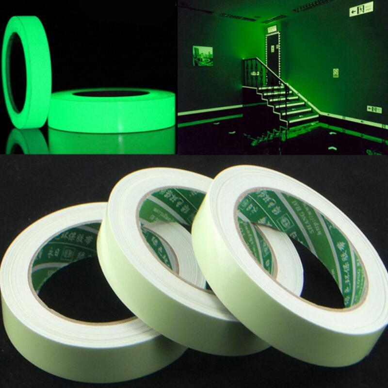 20/12/10/15mm X 3 M/rolle Leucht Band Self-adhesive Glow In Die Dark Sicherheits Bühne Home Dekorationen Warnband Der Preis Bleibt Stabil