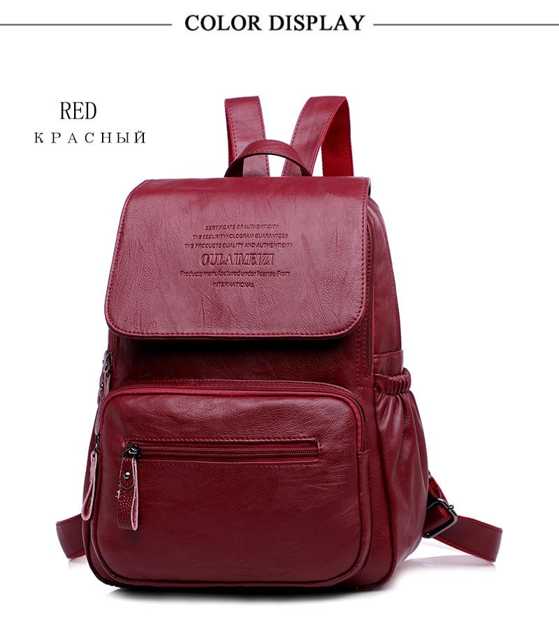 HTB1YE1pR4jaK1RjSZFAq6zdLFXav 2019 Women Leather Backpacks High Quality Ladies Bagpack Luxury Designer Large Capacity Casual Daypack Sac A Dos Girl Mochilas