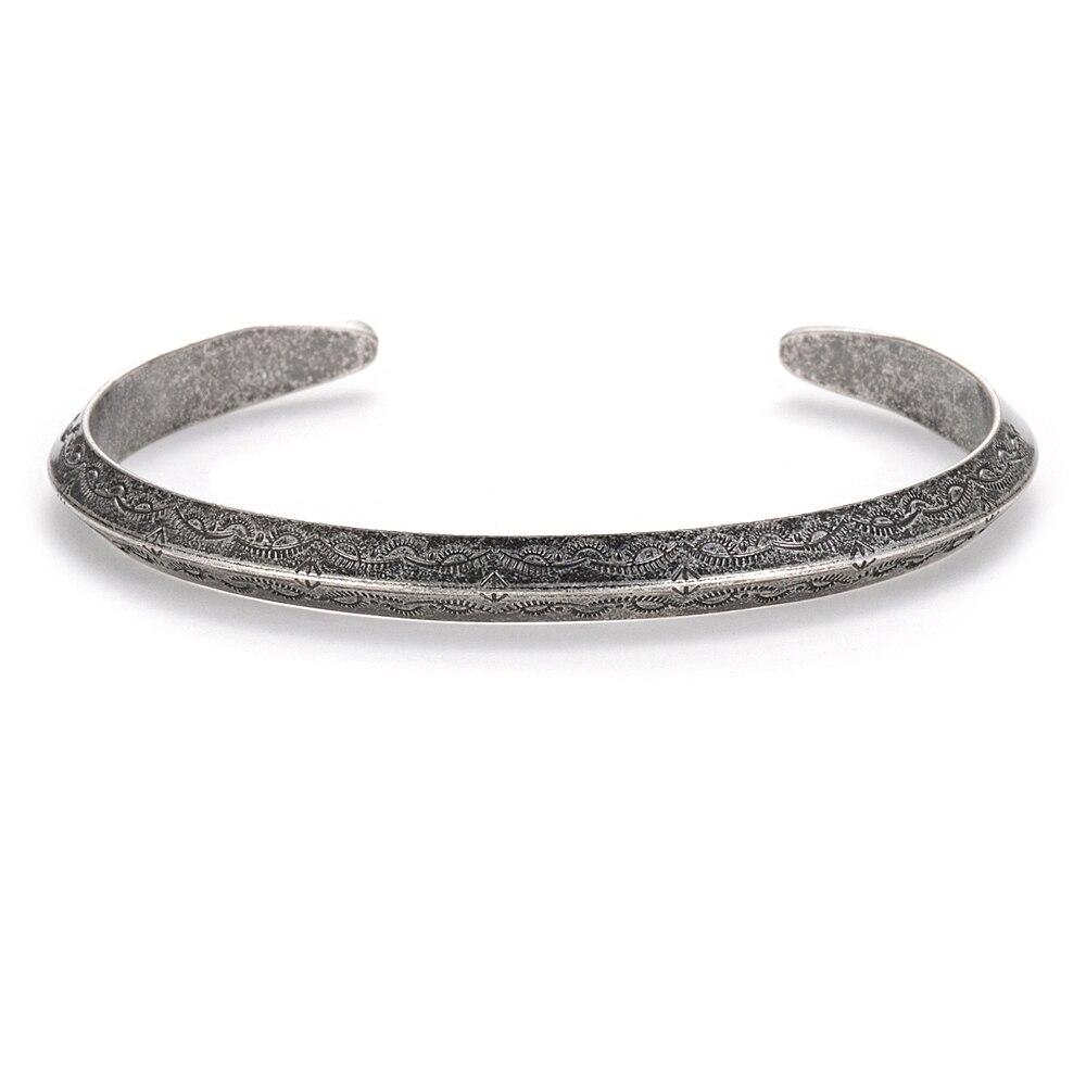 Bracelet rétro Viking titane et acier 2