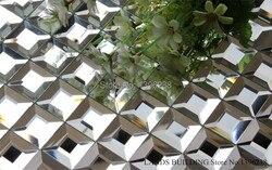 Transparent Splitter 5 Kanten Abgeschrägte Diamant Glänzenden Spiegel Glas  Mosaik Backsplash Fliesen Für Küche/Bad/schrank Wand, ...