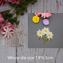Daisy flower decoration Metal steel frames Cutting Dies DIY Scrap booking Photo Album Embossing paper Cards7.8*6.1cm