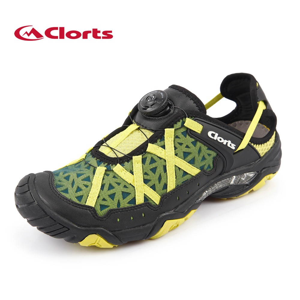 2017 Clorts Mens Water Shoes Boa Fast Lacing Beach Shoes Quick Dry Mesh Upper For Men Free Shipping 3H017A/B