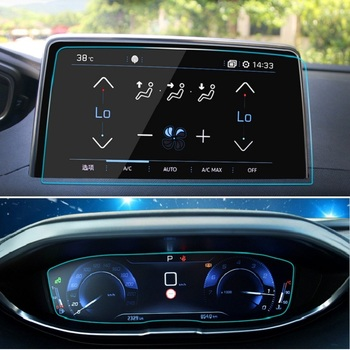 Car GPS Navigation Tempered Glass Screen Protective Film For Peugeot 3008 5008 3008GT 4008 2017 2018 2019 Accessories image