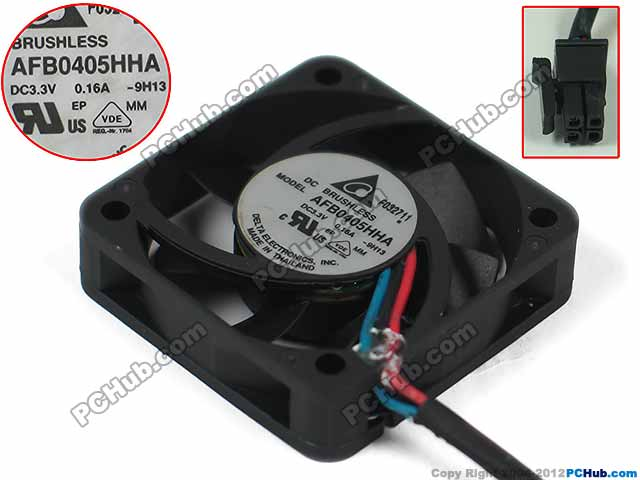 Free Shipping For Delta AFB0405HHA -9H13 DC 3.3V 0.16A 3-wire 4-pin connector 60mm 40x40x10mm Server Square Cooling Fan free shipping for delta afc0612db 9j10r dc 12v 0 45a 60x60x15mm 60mm 3 wire 3 pin connector server square fan