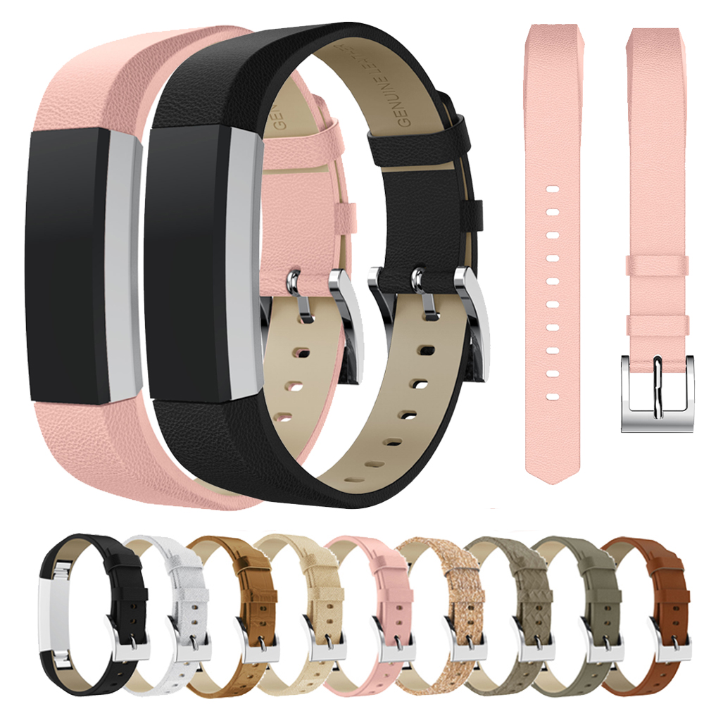 High Quality Genuine Leather Replacement Strap Band For Fitbit Alta / Alta HR Smart Tracker Bracelet Watchstrap Wristband Belt