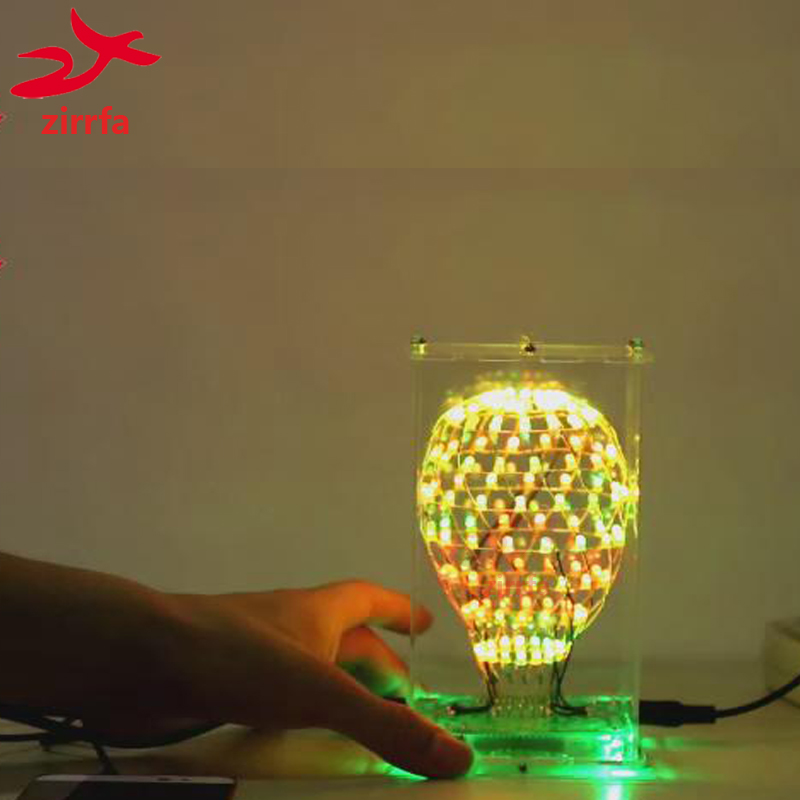 Electronic DIY Kit Colarful LED Cubic Ball 3D LED Suite Smart Electronics Led Cu