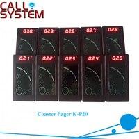 10 шт./упак. пейджер система вызова для ресторана беспроводной, для вызова подкачки системы очередей