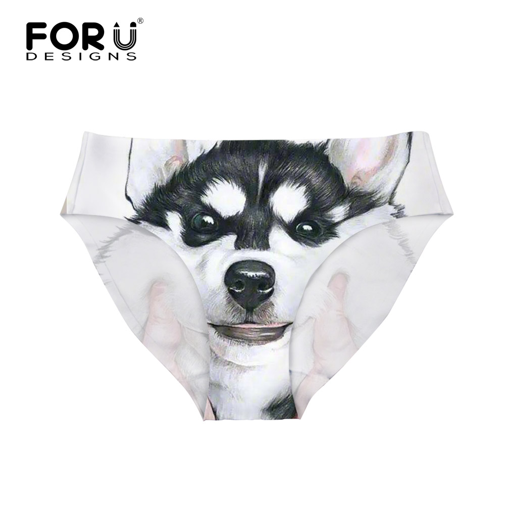 Buy FORUDESIGNS Fashion Women Seamless Underwear G String Husky Dogs Female Panties Traceless Crotch Intimates Briefs Drop Shipping