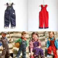 Ree Shipping Retail Papagino Kids Children Girls Boys Corduroy Pants Baby Kids Rompers Overalls Pants MOQ
