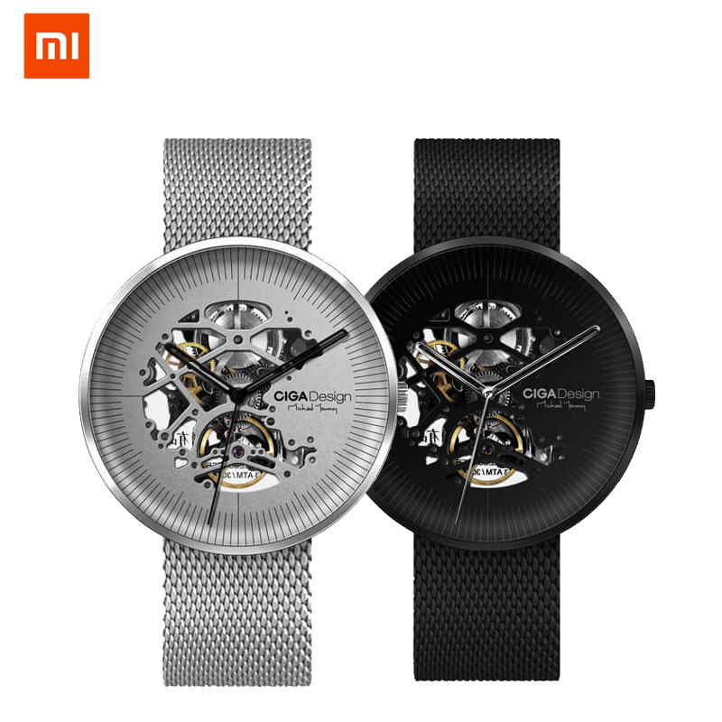 Xiaomi CIGA Hollowed-out Design Anti-Seismic Mechanical Watch iFDesign Gold Award Winner Stainless Fashion Luxury Watch seasonal 3152323 hollowed out pocket watch