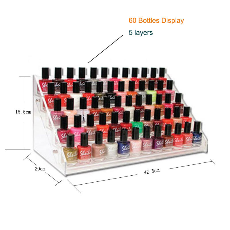 60 bottles Acrylic Polish Bottle Display Rack, nail polish bottle holder table counter WITH free ship (polish included) - DOUDOU NAIL ART store