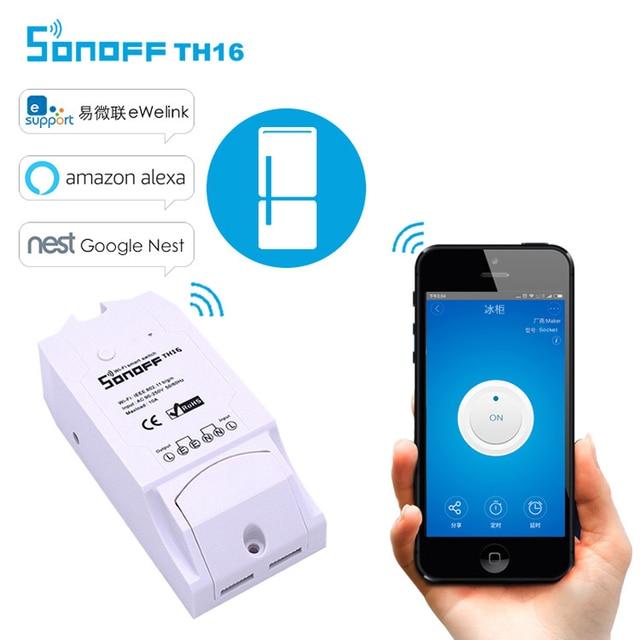 Новый Itead sonoff TH-TH10/TH16 Wi-Fi Smart Switch смартфон с дистанционным управлением Температура и влажности Сенсор для умного дома