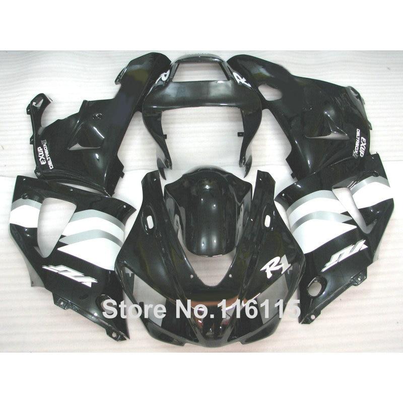 Injection molding ABS fairing kit for YAMAHA R1 1998 1999 YZF-R1 YZF R1 98 99 black white bodywork fairings set YS11 white blue abs fairing bodywork kit for yamaha fzr250 fzr 250 3ln 1990 1992 91