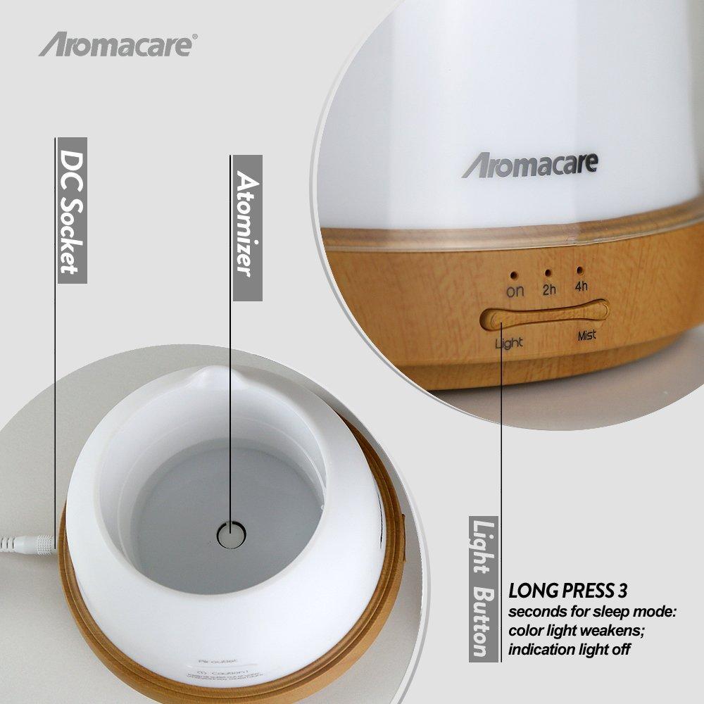Aromacare Ultrasonic Diffuser 200ml Kayu Bijian Pangkalan Air Minyak - Perkakas rumah - Foto 5