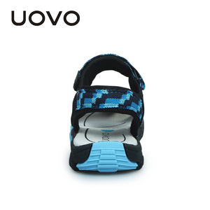 Image 4 - UOVO 2020 מותג קיץ חוף סנדלי בנים ובנות נעליים לנשימה מזדמן ספורט סנדלי פעוט #25 35