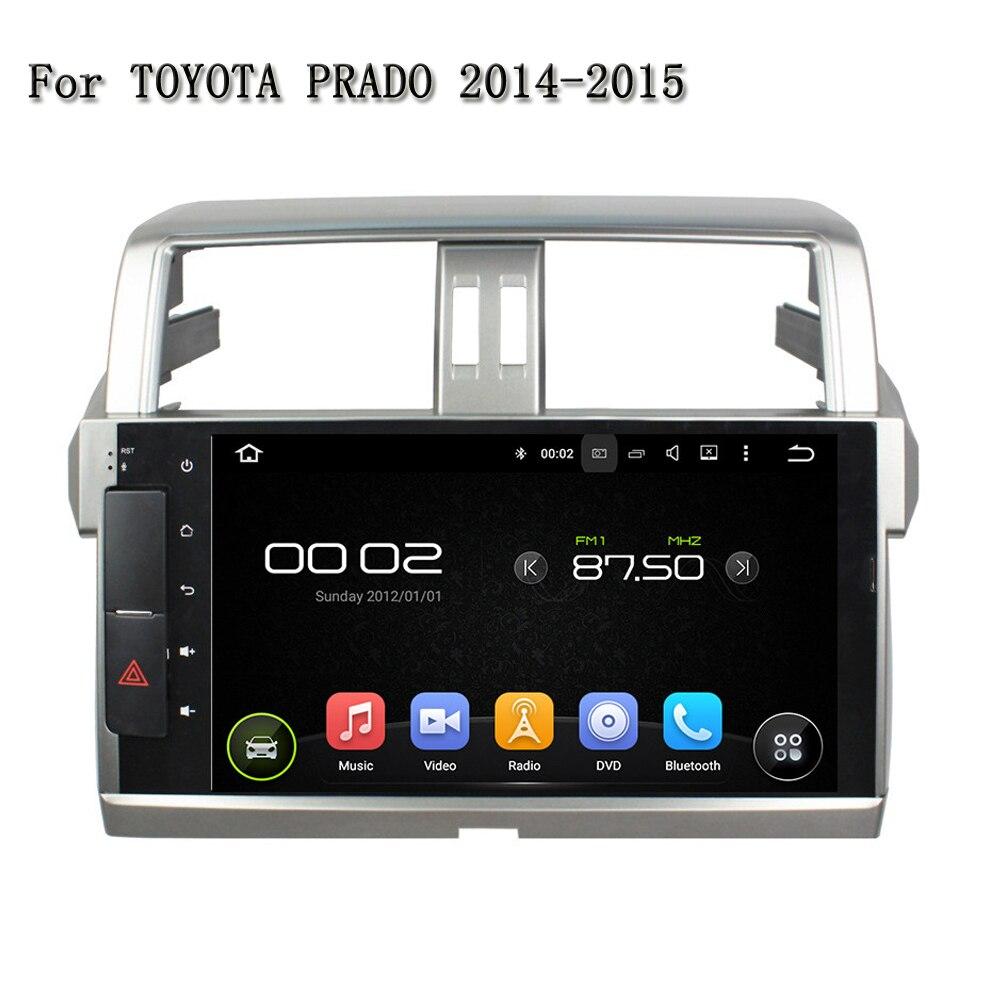 10.1 новый специальный 4 ядра GPS Navi Android 5.1.1 dvd-плеер автомобиля для Toyota Prado 2014-2015
