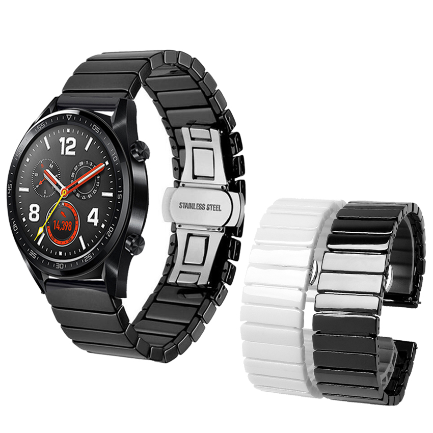 Ceramic Watchband For Huawei Watch Gt Strap Honor Magic Bracelet Ceramic Band 20mm 22mm Huawei Gt Active 46mm Elegant  Watch 2