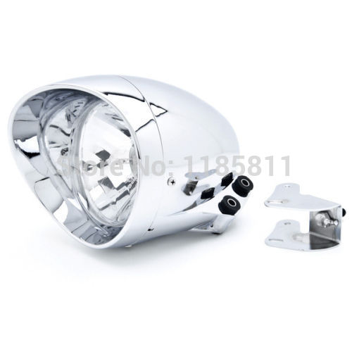 Motorcycle Custom Chrome Headlight For Honda Shadow Aero Phantom VLX 750 1100 YAMAHA SUZUKI KAWASAKI HIGH LOW BEAM HEAD LIGHT