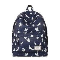 Brand Designer Casual Backpack School Back For College Bird Crane Pattern Men Casual Daypacks Mochila Masculina