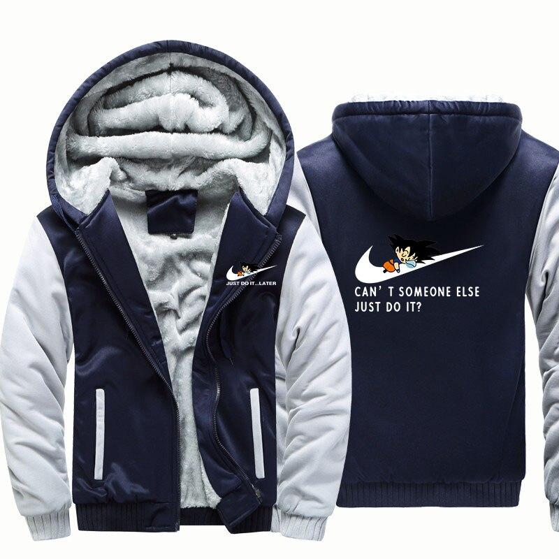 Men's Clothing 2018 Autumn Winter Jackets Anime Dragon Ball Z Sweatshirt Men Fashion Streetwear Fleece Hoody Mens Sportswear Harajuku Jacket