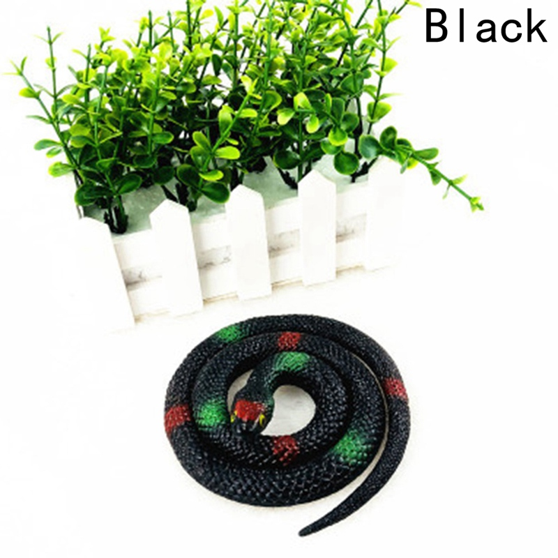 75cm Party Realistic Soft Rubber Toy Snake Garden Props Joke Prank Gift Novelty Playing Toys