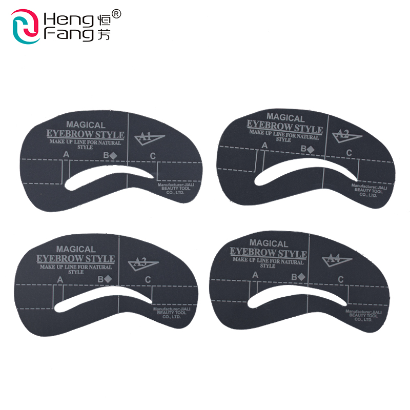 4 estilos / set Grooming Kit Stencil Shaping DIY Beauty sobrancelha Template Make Up ferramenta 24 setyles # 2404