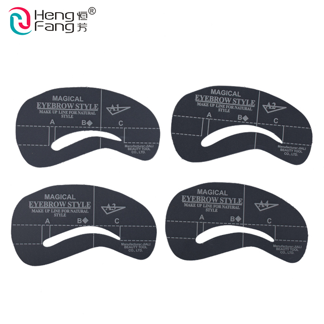 4 styles/set Grooming Stencil Kit Shaping DIY Beauty Eyebrow Template Make Up Tool 24 styles